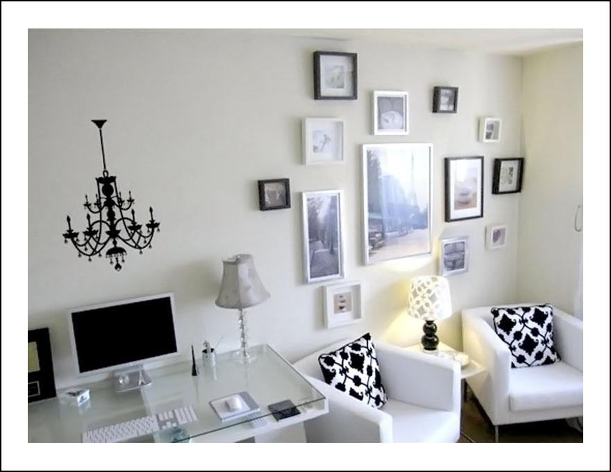 biało-czarne biuro