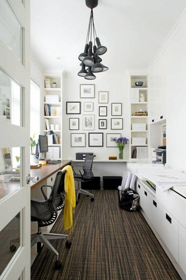 czarno-białe biuro