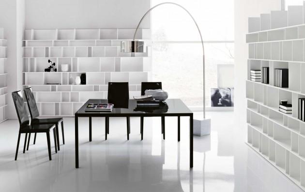 białe biuro