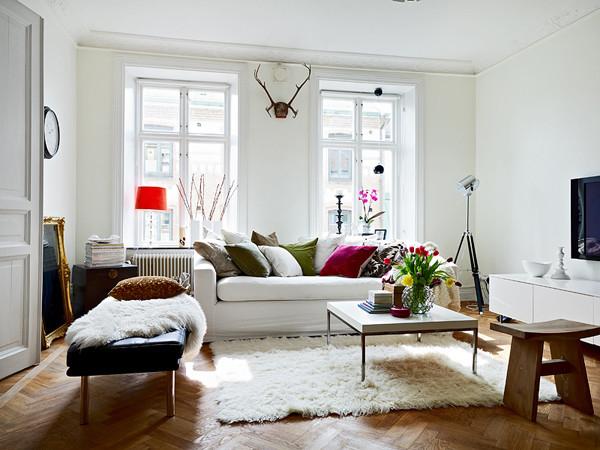 Skandynawski Salon Mieszkaniowe Inspiracje