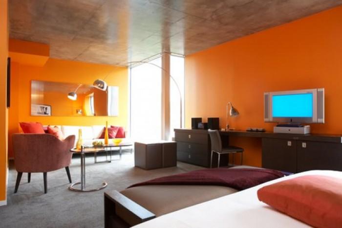 20 Pomarańczowych Pokoi Mieszkaniowe Inspiracje
