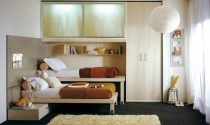 Modern-Shared-Kids-Room-In-Brown-And-White-Ideas