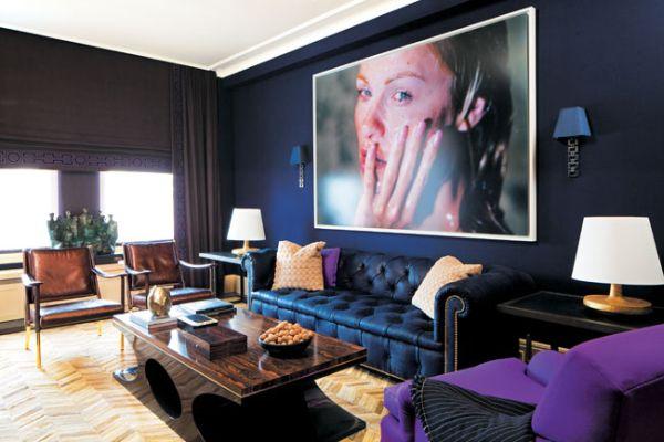 Granatowe Wnętrze Mieszkaniowe Inspiracje