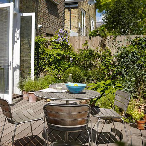 Mieszkanie z ogrodem mieszkaniowe inspiracje for Terraced house decorating ideas uk