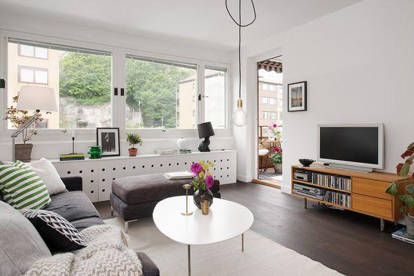 Skandynawskie wn trze 2013 mieszkaniowe inspiracje - Salon comedor con estilo ...