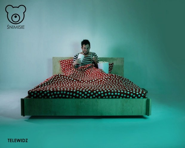 łóżko telewidz, fot. www.snimisie.pl