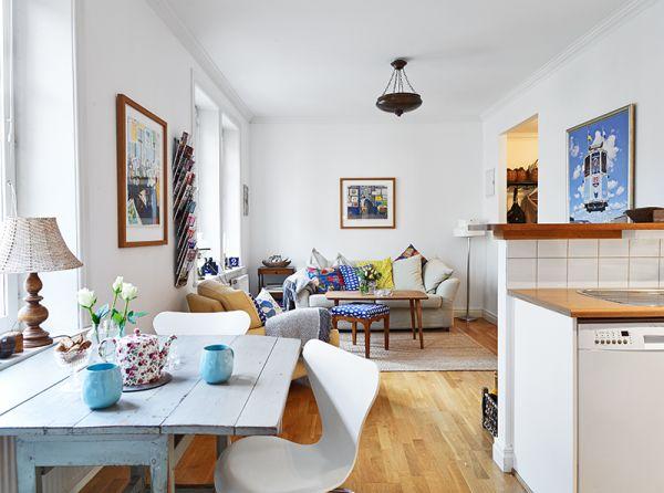 Przytulne mieszkanie mieszkaniowe inspiracje for Decoracion para interiores pequenos