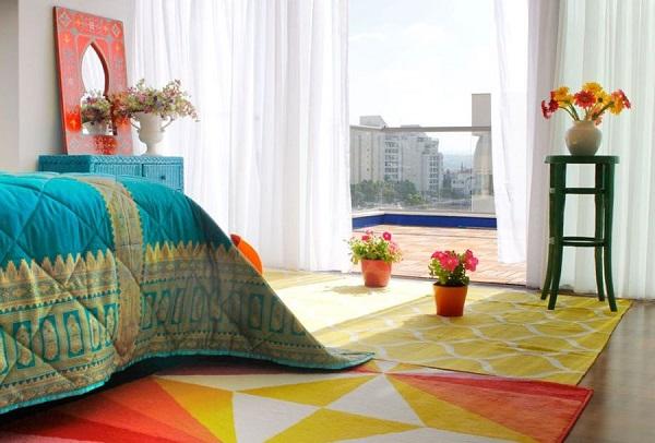 egzotyczna sypialnia
