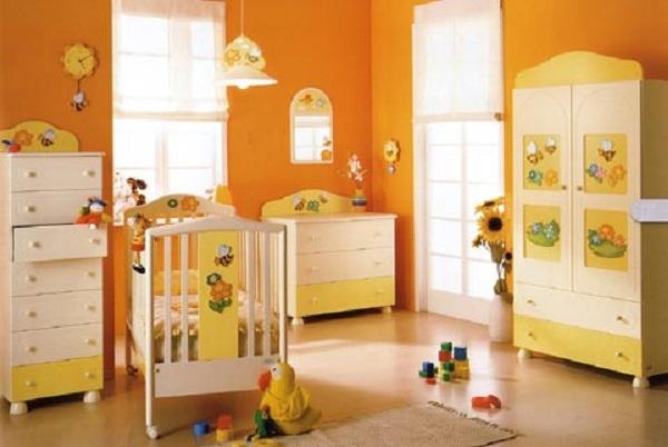 Kolor w pokoju niemowlaka  Mieszkaniowe inspiracje