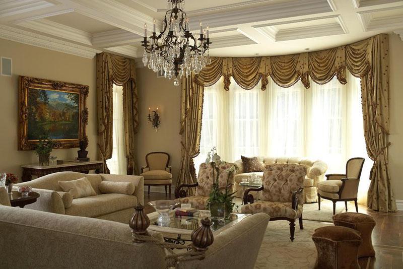 Elegancko i na temat salon w stylu klasycznym for Living room designs in dubai