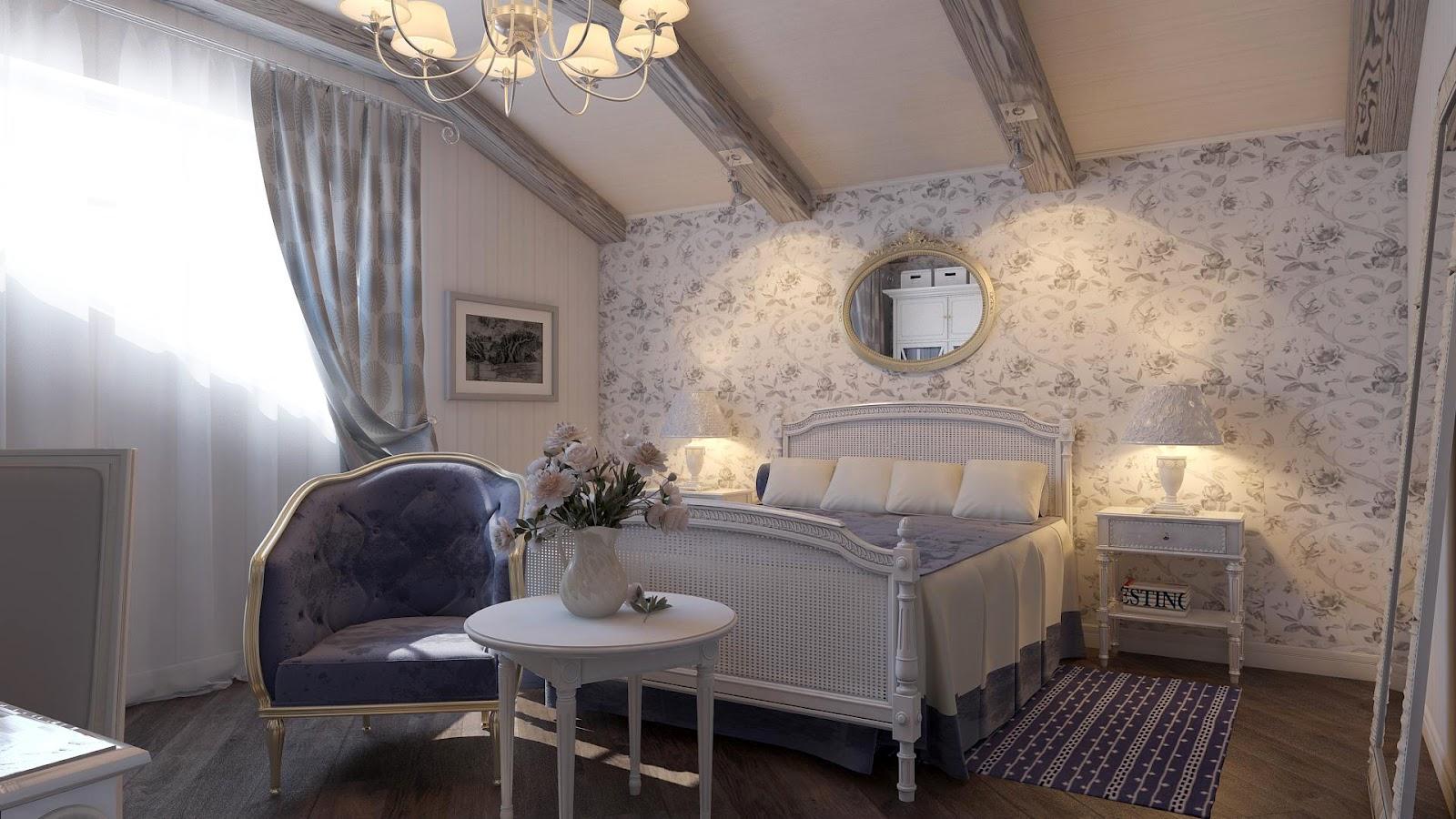 Спальни в стиле прованс дизайн