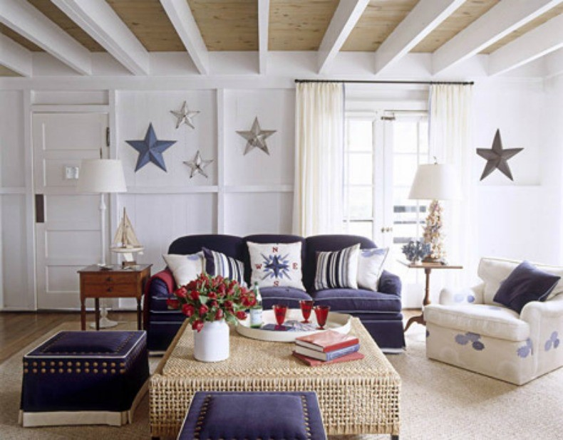 styl marynistyczny mieszkaniowe inspiracje. Black Bedroom Furniture Sets. Home Design Ideas