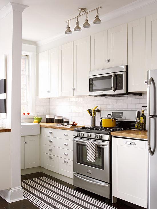 Aranzacja malej kuchni  Mieszkaniowe inspiracje