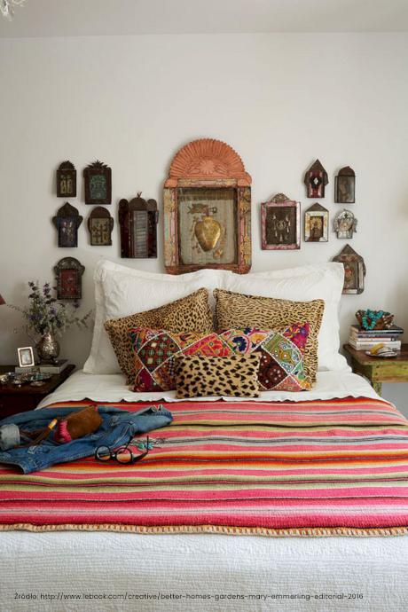 sypialnia w stylu meksykańskim